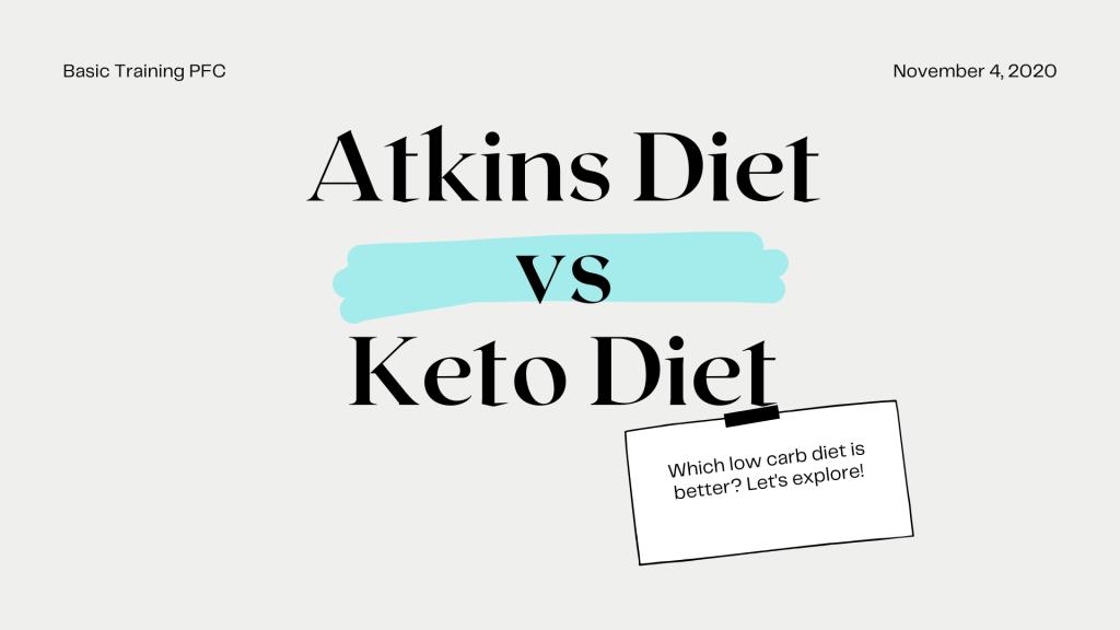atkins vs keto diet explained